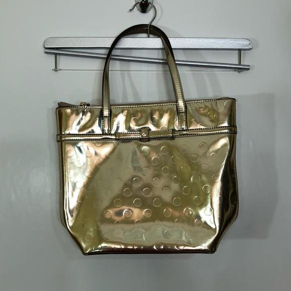 KATE SPADE street TOTE PURSE Gold camilla
